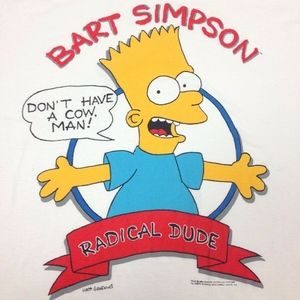Vintage The Simpsons Bart Simpson 1989 t-shirt